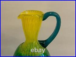 Vintage Kosta Boda Kjell Engman Glass Signed Footed Urn Pitcher Jug