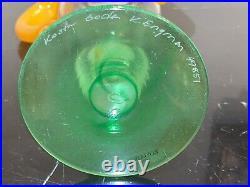 Vintage Kosta Boda Kjell Engman Swedish Art Glass Vase # 49851
