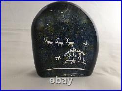 Vintage Kosta Boda Lappland Petroglyph by Goran Warff Pattern 96708
