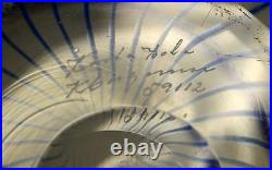 Vintage Kosta Boda Siigned Mid Century Glass Bowl Scandinavian