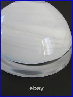 Vintage Kosta Boda Sweden Anna Ehrner 7 Swirled White Atoll Bowl
