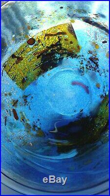 Vintage Kosta Boda Swedish Art Glass Bowl Satellite Bertil Vallien Signed