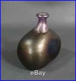 Vintage Scandinavian Kosta Boda Bertil Vallien Iridescent Art Glass Small Vase