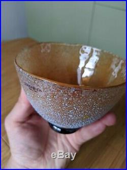 Vintage Signed Kosta Boda Bertil Vallien Glass Bowl'Artist Collection' Nr 5967
