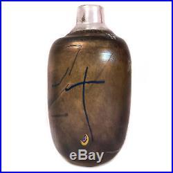 Vintage Signed Kosta Boda Bertil Vallien Glass Vase 9.75