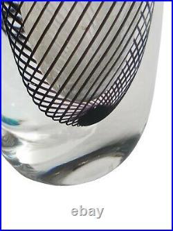 Vintage Swedish Kosta Boda Signed Vicke Lindstrand Art Solifleur Glass Vase 8