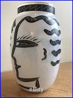 Vintage Ulrica Hydman Vallien Kosta Boda Caramba Eve Vase Scandinavian