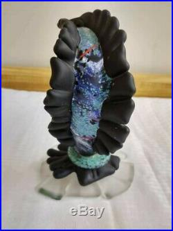 Vintage hand made art glass sculpture. Kosta Boda