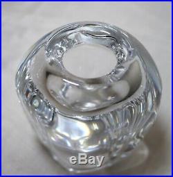 Vintage heavy signed Kosta Boda Goran Warff blown cut crystal glass vase