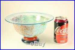 Vtg Kosta Boda Art Glass Bowl Kjell Engman Can-Can Compote 9 Bowl 59146 Signed