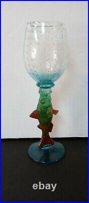 Vtg Kosta Boda Kjell Engman Limited Edition 500 Made Reef Collection Goblet 10